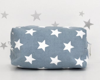 Diaper Pouch, Wipes Case, Baby Diaper Bag, Diaper Bag, Baby Gift, Diaper Storage, Boxy Bag, Diaper Wipes Case, Diaper Bag in Blue Stars