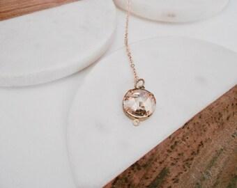 Birthstone lariat necklace