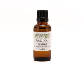 Clearing Facial Oil - ON SALE - Oily & Blemish Prone Skin, Daily Moisturizer, Organic Facial Oil
