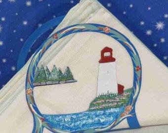 Lighthouse and trees Napkin Holder - Lighthouse Letter Holder