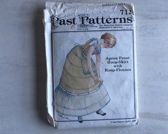 Past Pattern for Apron Front Hoop Skirt With Hoop Flounce