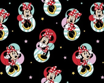 Disney Fabric Minnie Mouse Badges Fabric From Springs Creative