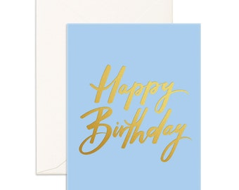 Birthday Blue Greeting Card