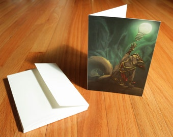 Squirrel Exploration Fantasy Illustrated Card Stationary set