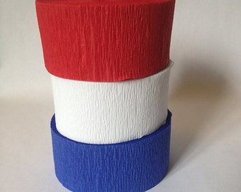 Red white and blue Streamer set 4th of july party, picnic, birthday decorations FREE SHIP