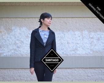 Santiago Jacket:  Printable ready to download Sewing Pattern and Tutorial