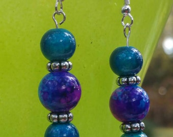 Handmade Blue and Purple Earrings