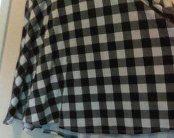 Plaid plus size circle skirt