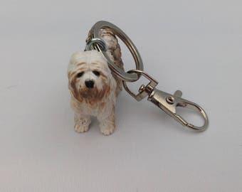Shaggy dog keychain keyring bag charm