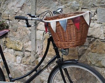 Bicycle Bunting in Tweed with 2 Colours and Assorted Lengths, Mini Bunting, Tweed Bunting, Bicycle Decoration, Mini Pennant Flags