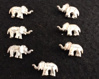 Vintage Silver Plated Pewter Elephants