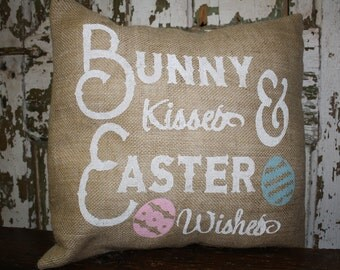Happy Easter Pillow Cover, Throw Pillow, 16x16 or 12x16 Pillow Cover,  Easter Pillow