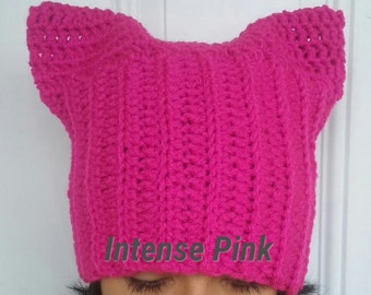 Crochet KittyHat / PussyHat/On Sale