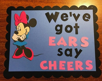Minnie Mouse birthday sign.  Mickey clubhouse birthday  party sign