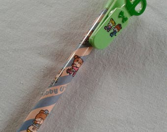 Vintage japan Ribbon Bobby & Kate jumpo pencil with memo clip