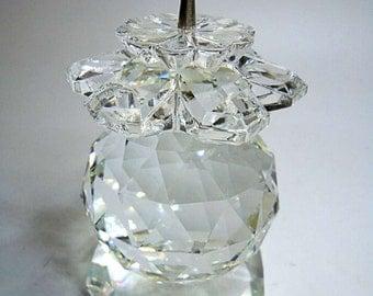 Fantastic noble Swarovski crystal candlestick collector's item 1976-88