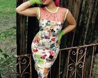 Pinups in Paris Wiggle Dress