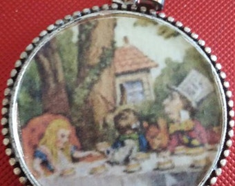 Alice at the Tea Party pendant