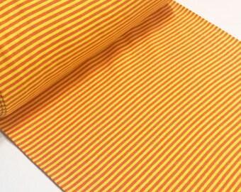 Striped rib tubular fabrics yellow/orange