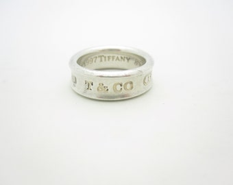 Tiffany & Co. Sterling Silver 1837 Collection Band Ring Size 6 1/2