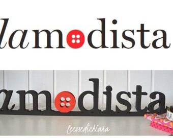 Custom logos in wood