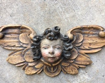 Baroque Wood Carved Angel Putti 18th Century