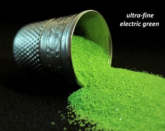 glitter - electric green ultra-fine polyester