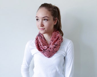 Pink Scarf-Black Scarf-Infinity Scarf-Silk-Scarf-Scarves-Scarves for Fall-Scarves for Summer--Scarves for Spring-Holiday Gift-Gift for My