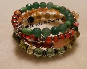 Green, Yellow, Orange Bracelet