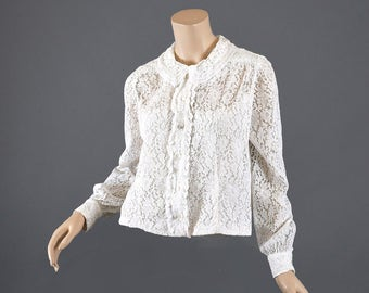 Vintage 1950s Lace Blouse - Unique style