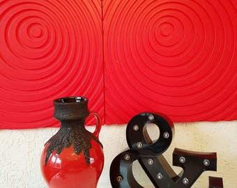 Roth keramik fat lava vase 1970s