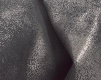 """Back in Black """"Rock-N-Roll"""" Leather Cow Hide 8"""" x 10"""" Pre-Cut  2-3 ounces flat grain DE-54430 (Sec. 7,Shelf 3,B)"""