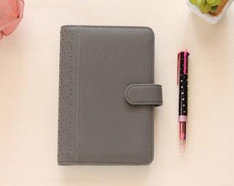 Grey planner, Personal organizer, Personal planner binder, ring binder diary