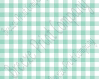 Mint and white buffalo check craft vinyl pattern sheet - HTV or Adhesive Vinyl -   htv3408