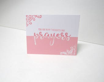 Handmade greeting card - Thoughts and prayers - Religious card - Get well soon - Bereavement card - Half and half - Mix and match card