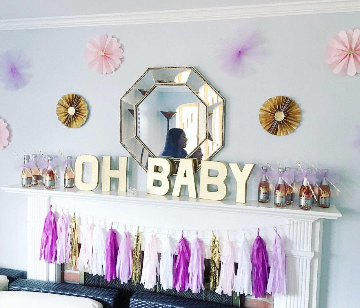 purple and gold tassel garland purple party decor purple. Black Bedroom Furniture Sets. Home Design Ideas