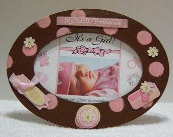 Baby Girl Oval Frame