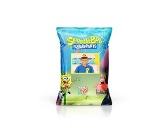 SpongeBob Inspired Favor/Chip Bag