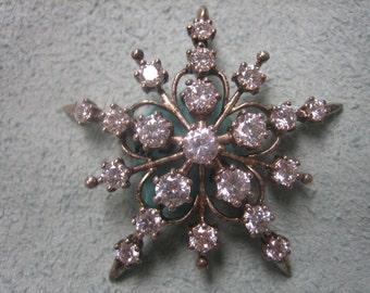 Star Burst Brooch Sterling Silver