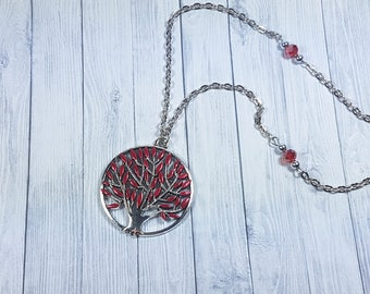 Heart Tree Necklace, Weirwood Tree Necklace, Game of Thrones inspired necklace