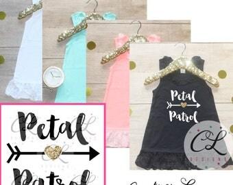 Petal Patrol Dress / Flower Girl Shirt Petal Patrol Outfit Wedding Rehearsal Outfit Wedding Shirt Wedding Clothes Cute Flower Girl Shirt 016