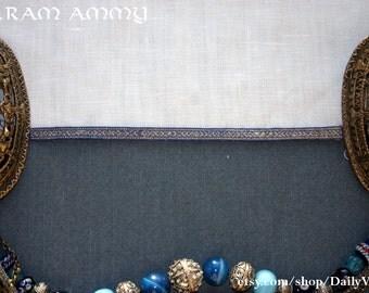 Viking birka brocaded tabletwoven band, silk and silver, B8
