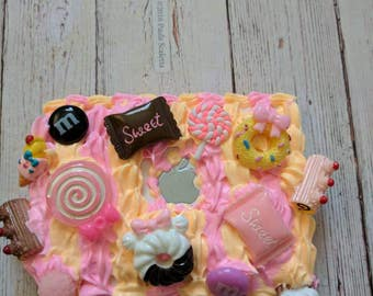 Lovely Peach Sweets Decoden Mac Apple Compact