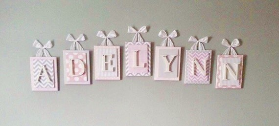 Nursery Letters Pink And Gray Nursery Letters Wooden Nursery