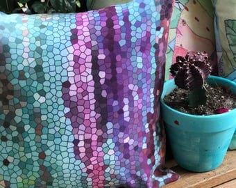 Outdoor Throw Pillow, Morning Mosaic, Decorative Pillow, Outdoor Decor, Patio  Pillows,