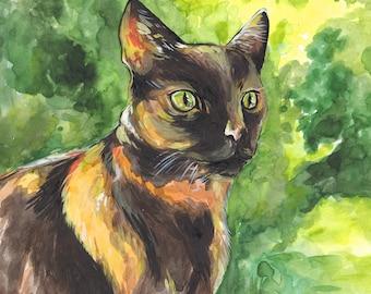 Pet Portrait - pet commission, portrait painting