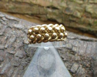 Heavy 9ct Yellow Gold Keepers Ring
