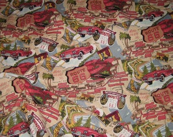 Robert Kaufam ROUTE 66 Fabric BRAND NEW 5 Yards