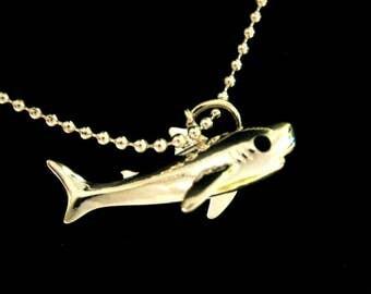 Shark pendant silver