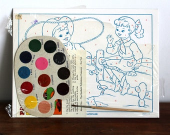 Vintage Paint By Number Kit